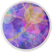 Blue Expectations - Square Version Round Beach Towel