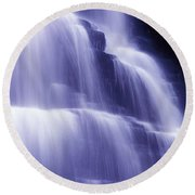 Blue Falls Round Beach Towel