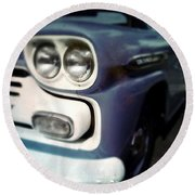 Blue Ford Pickup Round Beach Towel