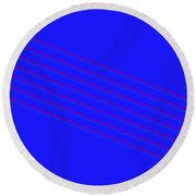 Blue Fourteen Round Beach Towel