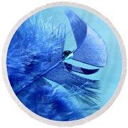 Blue Gem Round Beach Towel