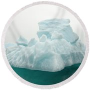 Blue Glacial Iceberg Floating Round Beach Towel