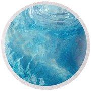 Blue Glacier Ice Round Beach Towel