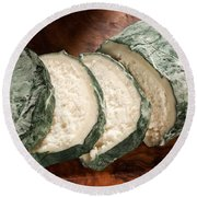 Blue Goat Cheese Round Beach Towel