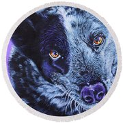 Blue Heeler Round Beach Towel