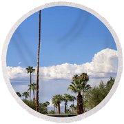 Blue Horizon Palm Springs Round Beach Towel