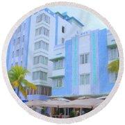 Blue Hotels Round Beach Towel