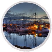 Blue Hour Round Beach Towel by Randy Hall