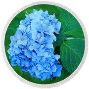 Blue Hydrangea Flower Art Prints Nature Floral Round Beach Towel