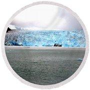 Blue Ice Round Beach Towel