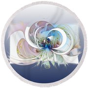 Blue Is The Colour Of My Love II Round Beach Towel