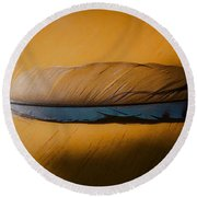 Blue Jay Way Round Beach Towel