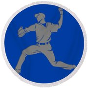 Blue Jays Shadow Player1 Round Beach Towel