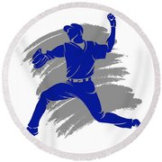 Blue Jays Shadow Player2 Round Beach Towel