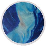 Blue Lagoon - Nudes Gallery Round Beach Towel