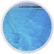 Blue Lagoon. Round Beach Towel