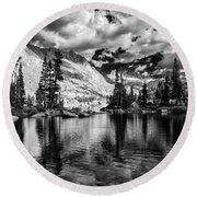 Blue Lake Round Beach Towel