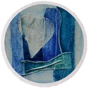 Blue Love 11 Round Beach Towel