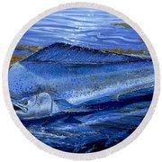 Blue Mahi Off0071 Round Beach Towel