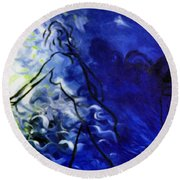 Blue Mood Round Beach Towel