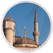 Blue Mosque 02 Round Beach Towel