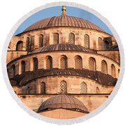 Blue Mosque Domes 02 Round Beach Towel
