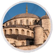 Blue Mosque Domes 05 Round Beach Towel