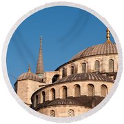 Blue Mosque Domes 07 Round Beach Towel