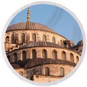 Blue Mosque Domes 09 Round Beach Towel