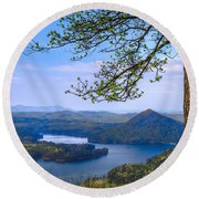 Blue Mountains Round Beach Towel