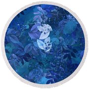 Blue - Natural Abstract Series Round Beach Towel