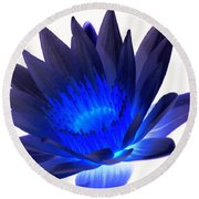 Blue Passion Round Beach Towel