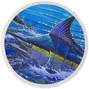 Blue Persuader  Round Beach Towel