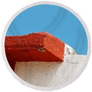 Blue Red And White Round Beach Towel