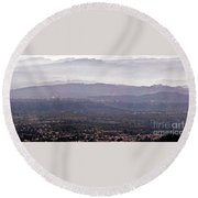 Blue Remembered Hills Round Beach Towel