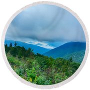 Blue Ridge Parkway National Park Sunrise Scenic Mountains Summer Round Beach Towel