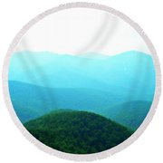 Blue Ridge Scene Round Beach Towel