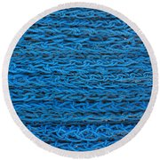Blue Rope Stack Round Beach Towel