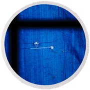 Blue Shade Round Beach Towel
