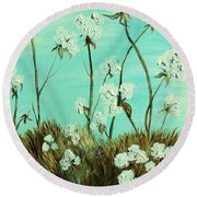 Blue Skies Over Cotton Round Beach Towel