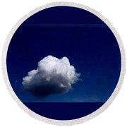 Blue Sky Cloud Round Beach Towel