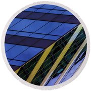 Blue Sky Horizontal  Round Beach Towel