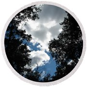 Blue Sky Round Beach Towel