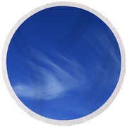 Blue Sounds To Echo Feeling Round Beach Towel