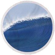 Blue Spinner Round Beach Towel by Sean Davey