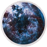 Blue Storm  Round Beach Towel