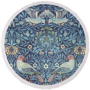 Blue Tapestry Round Beach Towel by William Morris