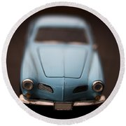 Blue Toy Car Round Beach Towel