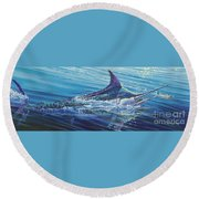 Blue Tranquility Off0051 Round Beach Towel