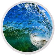 Blue Tube Round Beach Towel